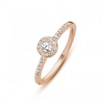 Luxury Ring Rosaforgyldt Sølv