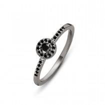Luxury Ring Sølv Ruthineret