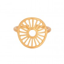 Sunlight Ring Gold Plated Silver