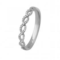 Twisted Ring 14K Hvidguld