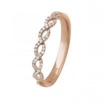 Twisted Ring 14K Rosaguld
