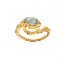 Whirlpool Ring Gold Plated Silver