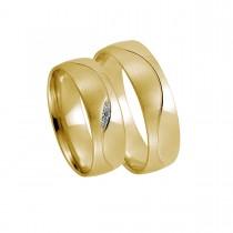 Ying-Yang Vielsesringe 14K Guld